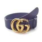 Gucci // Contoured GG Belt // Blue + Gold (85)