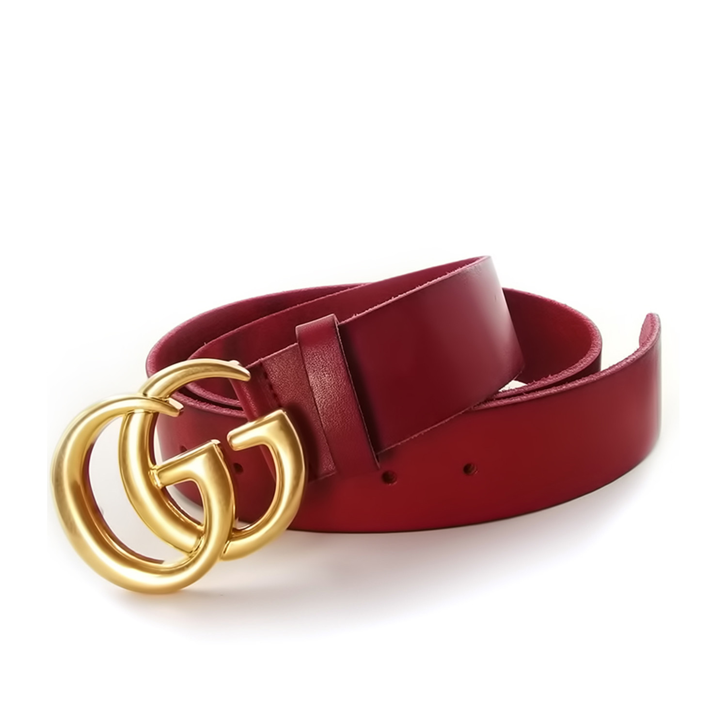732b06a16 Gucci // Contoured GG Belt // Red + Gold (85) - Gucci Belts - Touch ...