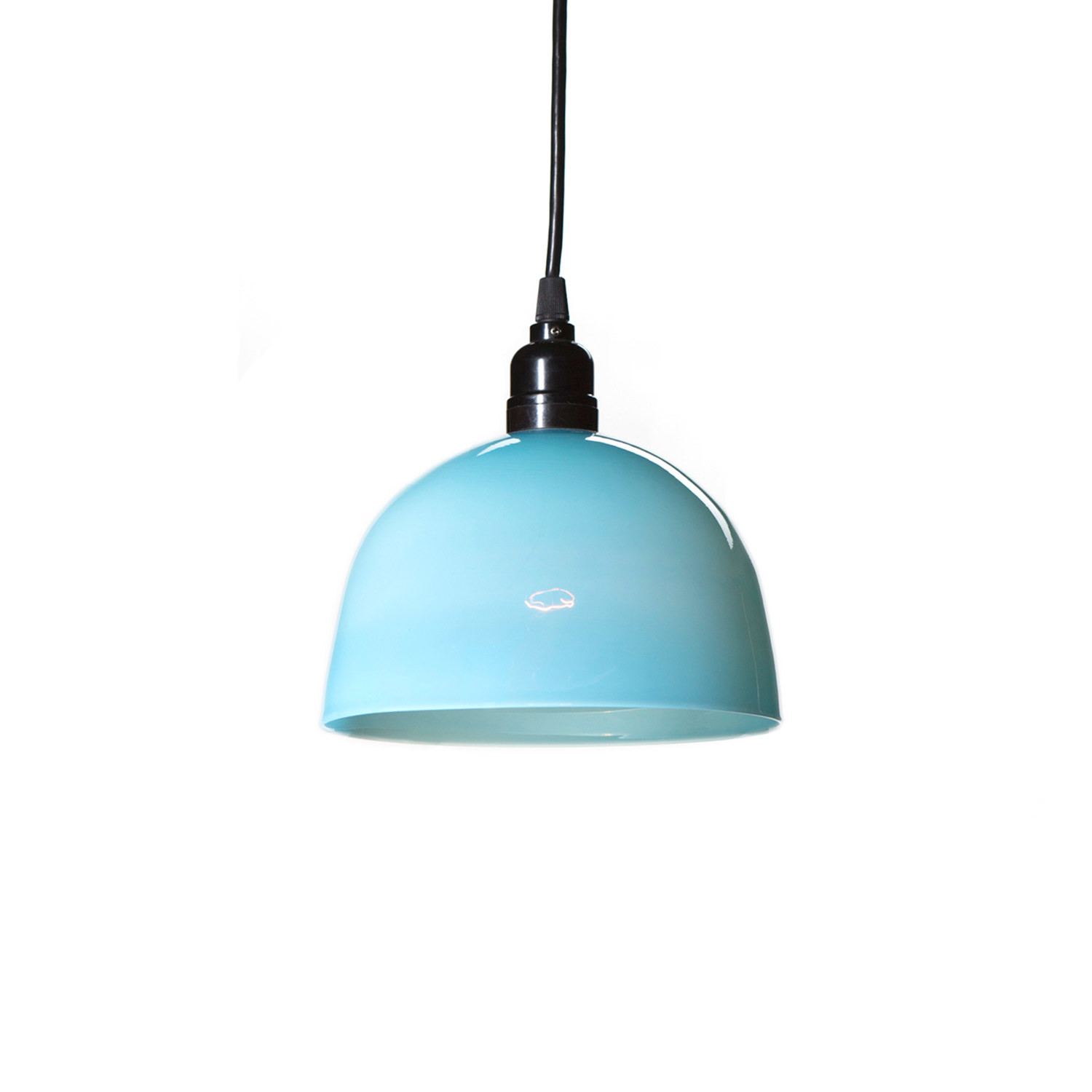 Simple Pendant Light Blue Small Esque Studio Touch Of Modern
