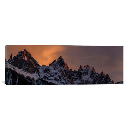 """Alps, Chamonix, Haute-Savoie, Auvergne-Rhone-Alpes, France // Alex Buisse Canvas Print (36""""W x 12""""H x 0.75""""D)"""
