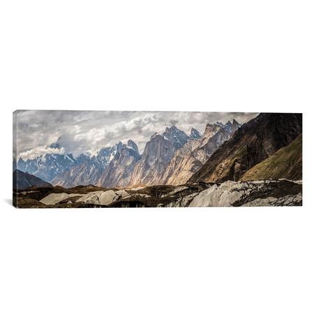 "Baltoro Glacier, Karakoram Mountain Range, Gilgit-Baltistan // Alex Buisse Canvas Print (36""W x 12""H x 0.75""D)"