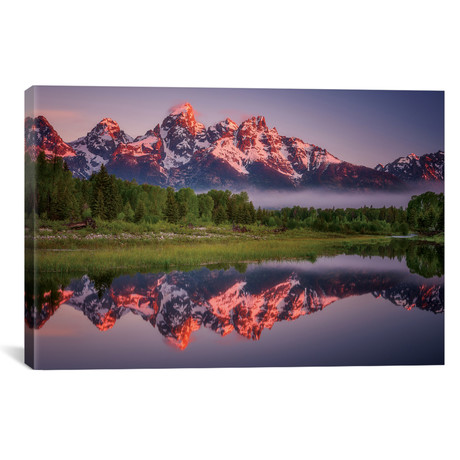 "Teton Awakening // Darren White Photography (18""W x 12""H x 0.75""D)"