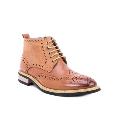 Rome Wing-Tip Chukka Boot // Cognac (US: 8)