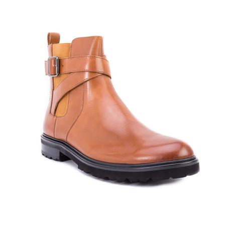 Jamin Strap Chelsea Boot // Cognac (US: 8)