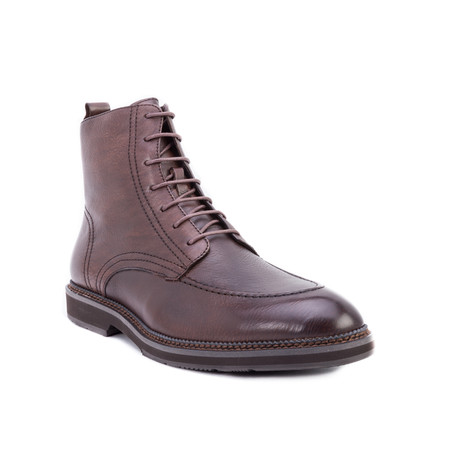 Gaddi Apron-Toe Boot // Brown (US: 8)