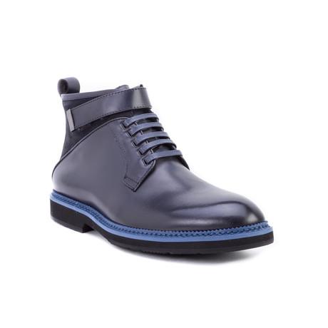 Ginko Strap Boot // Navy (US: 8)