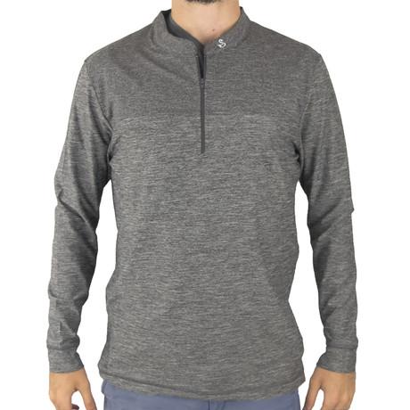 Heather Quarter Zip Pullover // Grey (S)