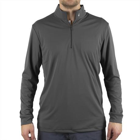 Blair Quarter Zip Pullover // Grey (S)