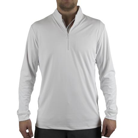 Blair Quarter Zip Pullover // White (S)