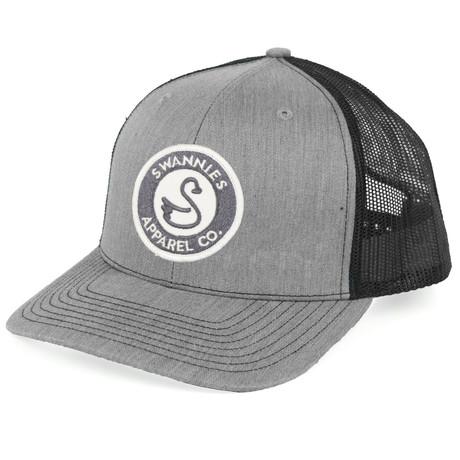 The O'Brien Meshback Hat // Grey + Black