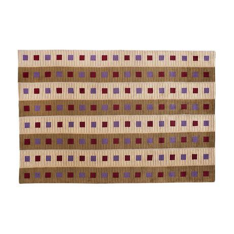 Handmade Contemporary Rug // Square Rows