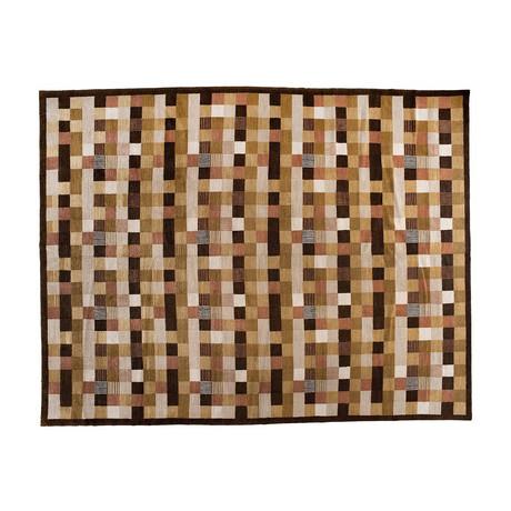 Handmade Tibetan Rug // Checker Board