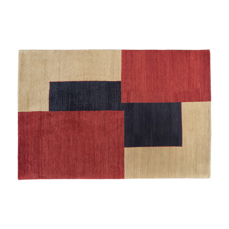 Geometric Contemporary Rug // Overlapping Rectangles