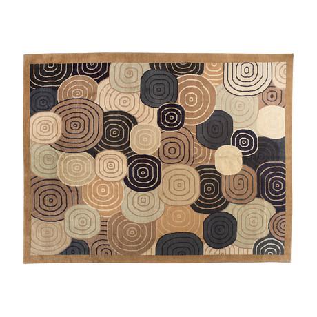 Handmade Contemporary Rug // Circles
