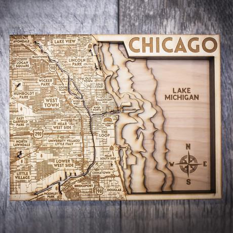 """Chicago (7""""W x 10""""H x 1.5""""D)"""