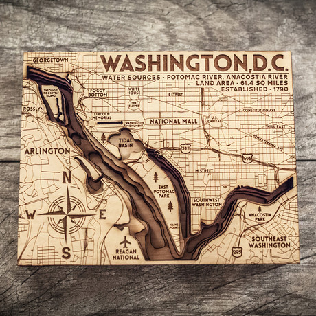 "Washington D.C. (7""W x 11""H x 1.5""D)"