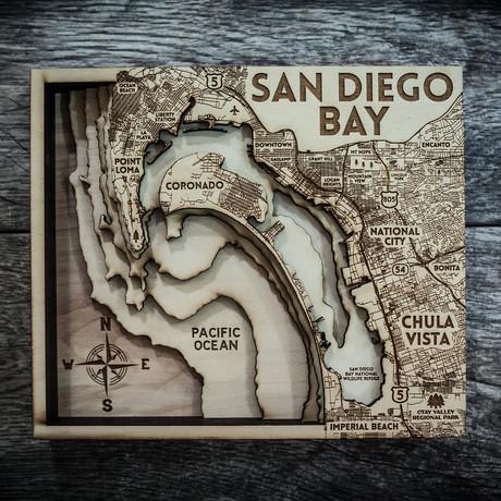 """San Diego (8""""W x 10""""H x 1.5""""D)"""