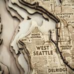 """Seattle (8""""W x 10""""H x 1.5""""D)"""