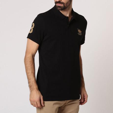 Polo Club Shirt // Black + Gold (S)