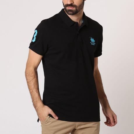 Polo Club Shirt // Black + Turquoise (S)