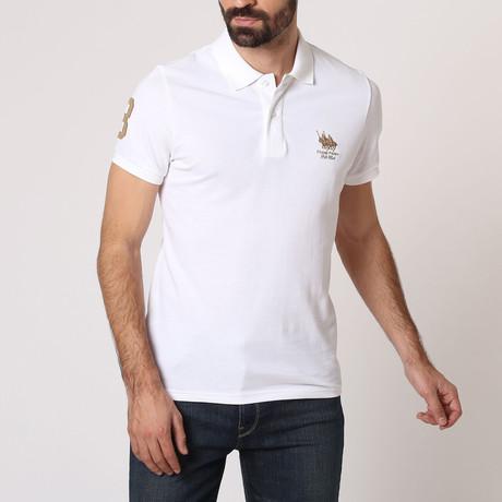 Polo Club Shirt // White + Gold (S)