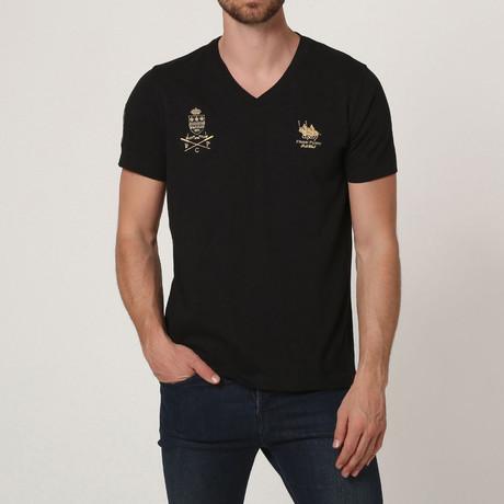 Polo Club V-Neck T-Shirt // Black (S)