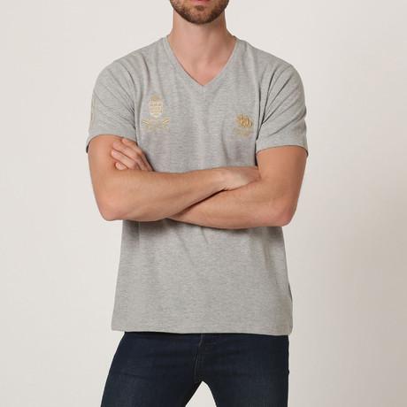 Polo Club V-Neck T-Shirt // Grey M. (S)
