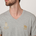 Polo Club V-Neck T-Shirt // Grey M. (S)
