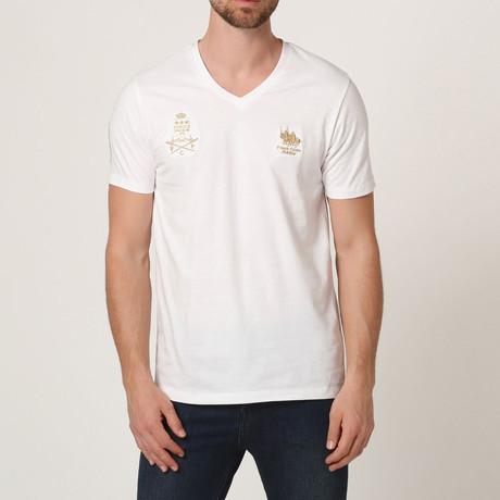 Polo Club V-Neck T-Shirt // White (S)