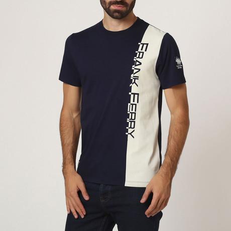 Graphic Crew T-Shirt // Navy (S)