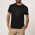 Border Frank Crew T-Shirt // Black (S)