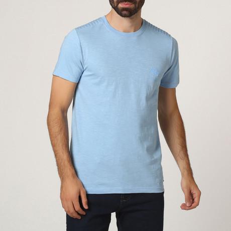 T-Shirt W/ Stitched Shoulder Detail // Light Blue (S)