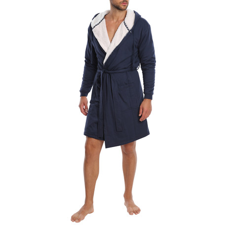 Craftsman French Terry Robe // Navy (S)