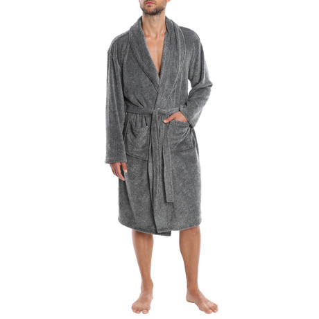 Weekender Plush Robe // Grey (S)