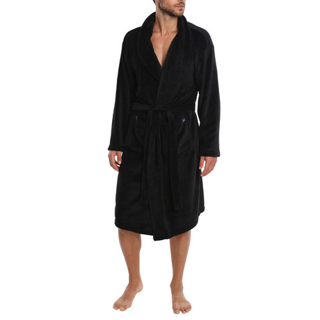 Weekender Plush Robe // Black (S)