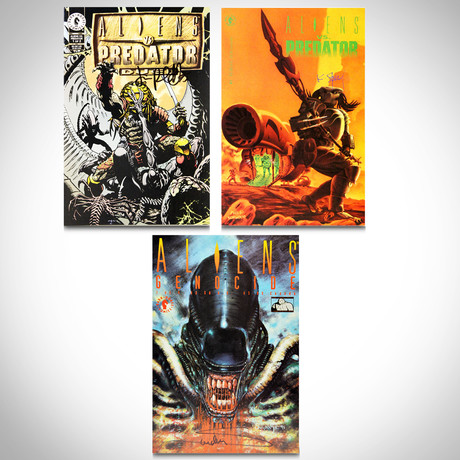 Signed Comics // Aliens vs Predator // Set of 3