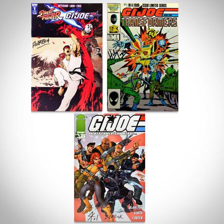 Signed Comics // GI JOE, Street Fighter & Transformers // Set of 3