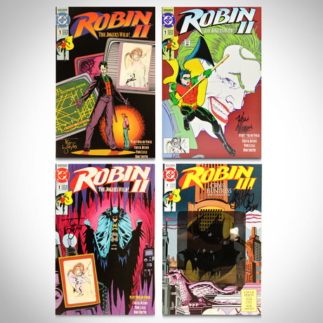 Signed Comics // Batman, Robin & Joker // Set of 4
