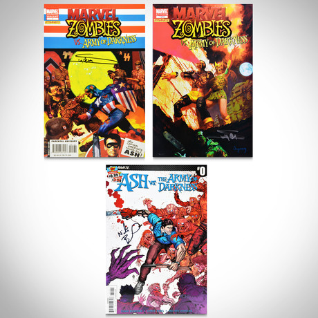 Signed Comics // Marvel Zombies & Army of Darkness // Set of 3