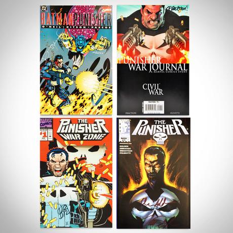 Signed Comics // Punisher, Batman, Civil War // Set of 4