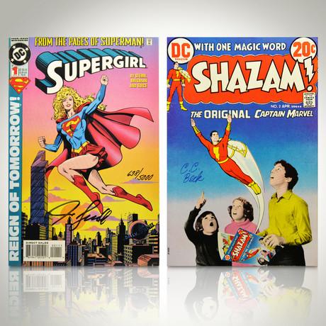 Signed Comics // Supergirl and Shazam 1973 // Set of 2