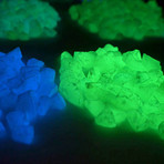 Glow-In-The-Dark Marble Stones // 3-8mm // Ethereal Blue