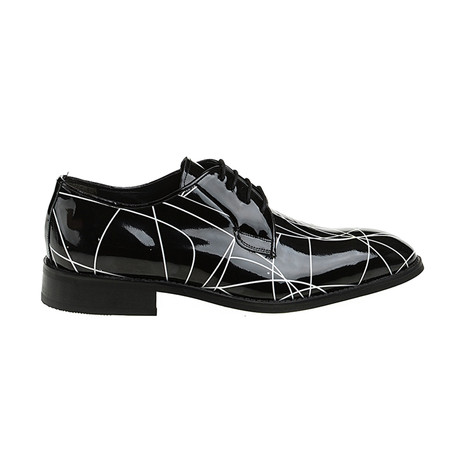 Patterned Plain-Toe Derby // Black (Euro: 40)