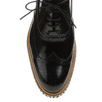 Sleek Patent Wing-Tip Oxford // Black (Euro: 45)