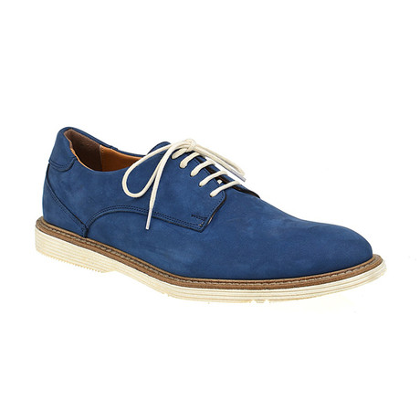 Plain-Toe Sleek Derby // Blue (Euro: 40)