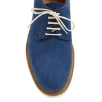 Plain-Toe Sleek Derby // Blue (Euro: 41)