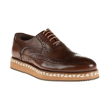 Patent Wing-Tip Oxford // Brown (Euro: 40)