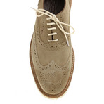 Sleek Wing-Tip Brogue // Mink (Euro: 43)
