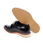 Patent + Leather Cap-Toe Derby // Black (Euro: 41)