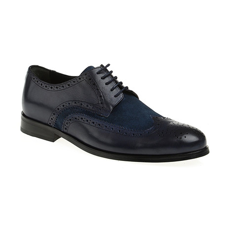 Suede Wing-Tip Brogue // Navy (Euro: 40)